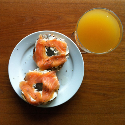 Small bagel, or very large Bellini?