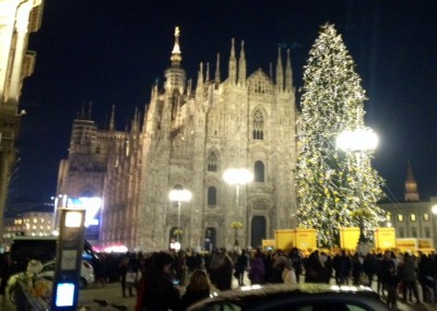 A winter evening in Milan