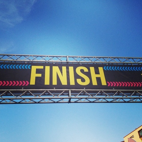 Finish line... who doesn't love those?