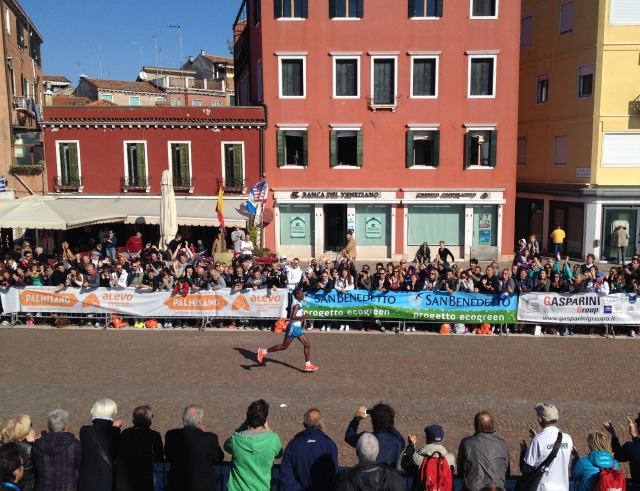 Winner of 2014 Venice Marathon, Mamo Ketema Behailu from Ethiopia