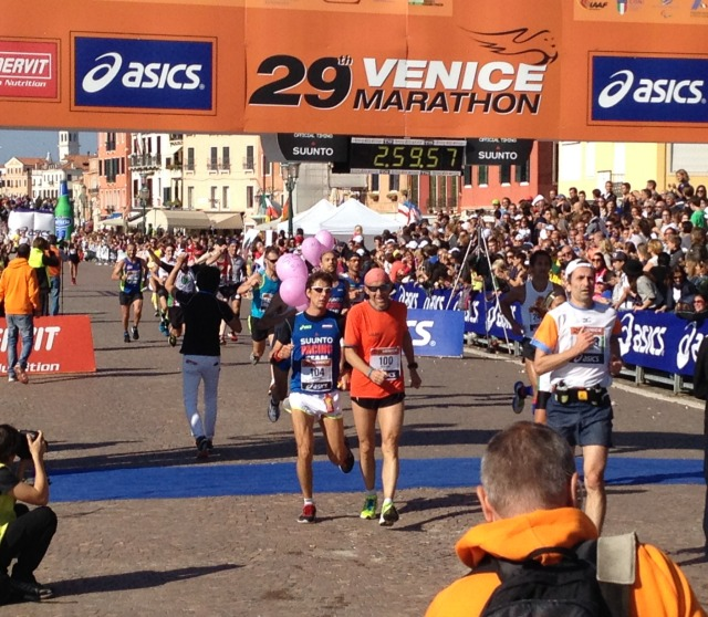 Stefano Benatti at the Venice Marathon
