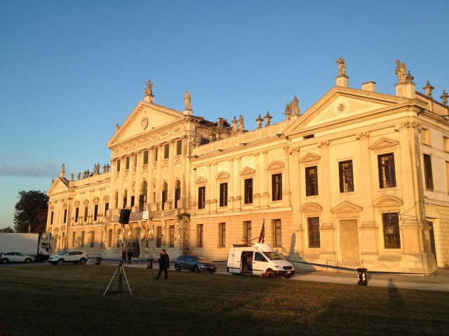 Sunrise on the Villa Pisani