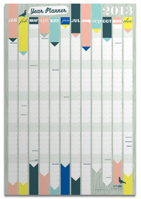 2013 Wall Planner from Lollipop Designs