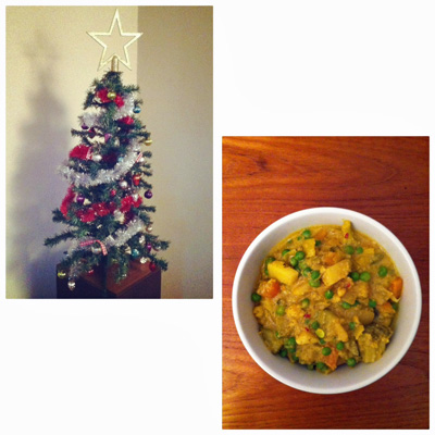 Christmas tree and curry