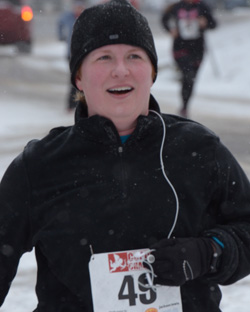 In the snow at the Cupid 5K