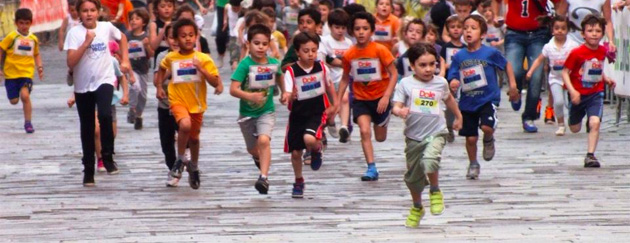Kids race at the JJ Running Festival
