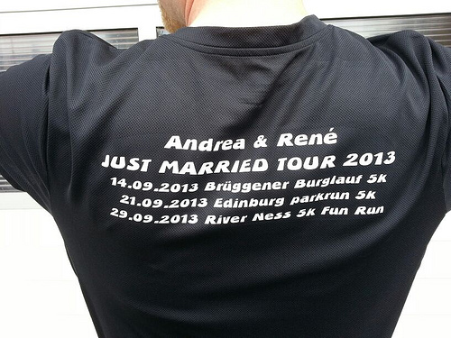Andrea & Rene's Just Married Tour t-shirt
