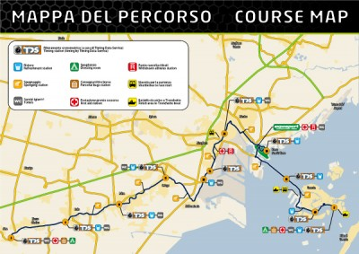 Venice Marathon route map