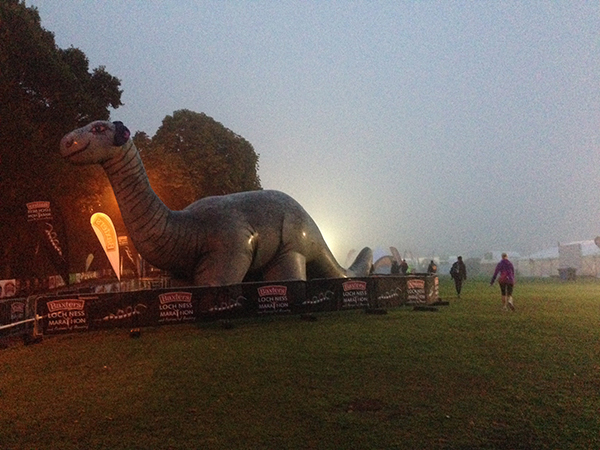 Nessie at the starting line