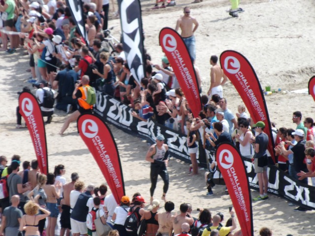 The swim at Challenge Rimini, 2014