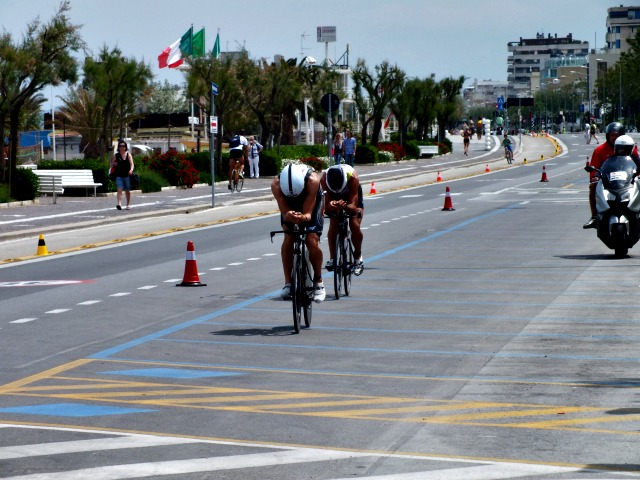 Elite bike athletes at Challenge Rimini, 2014