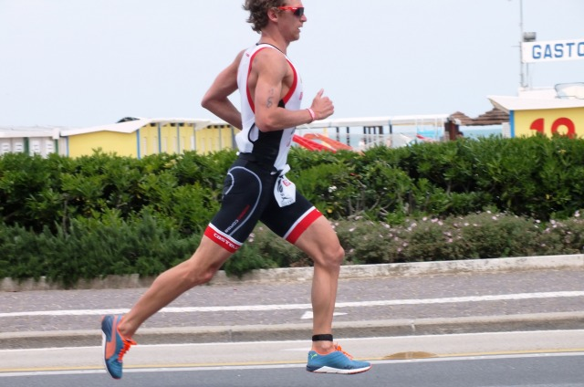 Elite athletes running at Challenge Rimini, 2014
